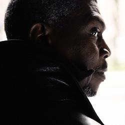 "William Mbaye's portrait during Brussels' Festival des Cinemas Africains (African Film Festival). He's the director of the movie ""Mere-Bi, la mere"". Commune d'Ixelles, Brussels. April 4, 2009. Photo : Antoine Doyen"
