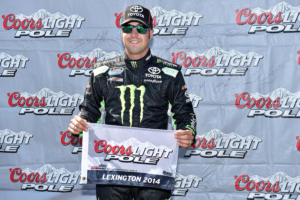 15-16 August, 2014, Lexington, Ohio USA<br /> Sam Hornish Jr, Monster Energy Toyota Camry pole award<br /> &copy;2014, Scott R LePage <br /> LAT Photo USA