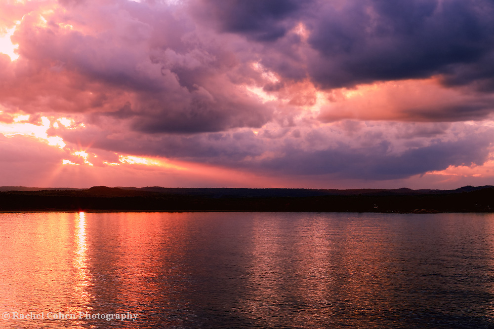 &quot;Chasing Dreams&quot;<br /> <br /> Amazing deep burgundy and gold tones with dramatic skies at sunset on Lake Superior!