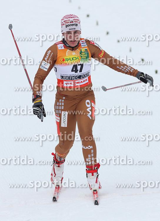 Barbara Jezersek of Slovenia at Ladies` Pursuit 7,5 km Classic + 7,5 km Free at FIS Nordic World Ski Championships Liberec 2008, on February 21, 2009, in Vestec, Liberec, Czech Republic. (Photo by Vid Ponikvar / Sportida)