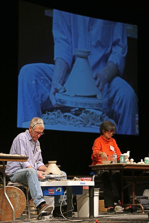 Nick Joerling and Patti Warashina demonstrates at ALCC30.