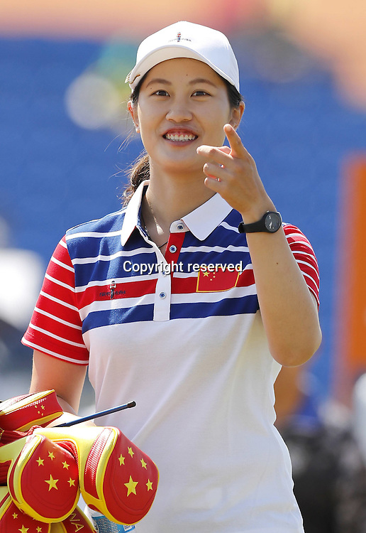 17.08.2016. Rio de Janeiro, Brazil. Olympic Games, womens golf competition 2016.  Xiyu LIN China (CHN)  during the 1st round at the Rio Olympics Golf 2016 held at the Olympic Golf Course.