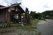 Empty shops and houses in Namie village that has ben evacuated because of high levels of radiation.