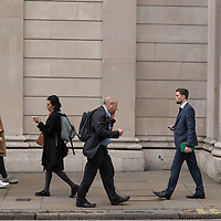 People at afternoon rush hour, City of London.