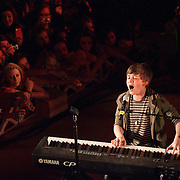 """WASHINGTON, D.C. - April 28th, 2011: Youtube sensation Greyson Chance performs at 6th & I Synagogue in Washington, D.C. Recently signed to eleveneleven Records, run by Ellen DeGeneres, Chance released his debut single """"Waiting Outside The Lines"""" in October of 2010.  (Photo by Kyle Gustafson/For The Washington Post)"""
