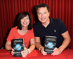 John Barrowman and sister Carole Barrowman sign copies of their book Conjuror at Foyles Book Shop, Charing Cross Road, London on Sunday 8 May 2016