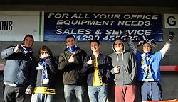 Bristol Rovers fans - Mandatory byline: Neil Brookman/JMP - 07966 386802 - 21/11/2015 - FOOTBALL - Checkatrade.com Stadium - Crawley, England - Crawley Town v Bristol Rovers - Sky Bet League Two