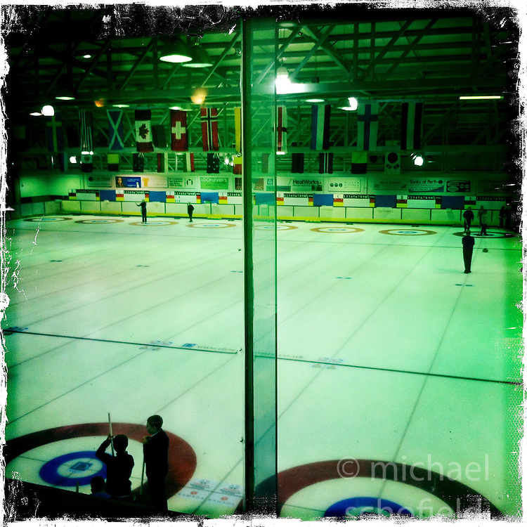 Ice Rink, Perth..Hipstamatic images taken on an Apple iPhone..©Michael Schofield.