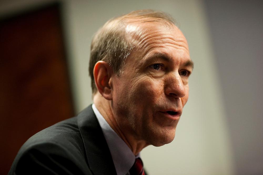 Representative Scott Garrett, (R-NJ), speaks in Washington on February 28, 2011.