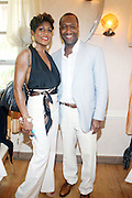 24 June 2010- Miami Beach, Florida-l to r: Jocelyn Taylor and Jeff Friday at the The 2010 American Black Film Festival Founder's Brunch held at Emeril's on June 24, 2010. Photo Credit: Terrence Jennings/Sipa