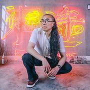 CHINA / Shanghai /<br /> <br /> Artist  Gu Wenda in his atelier <br /> <br /> &copy; Daniele Mattioli / Anzenberger