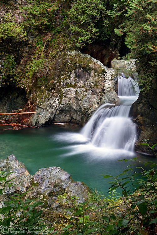 Twin Falls at Lynn Canyon Park in North Vancouver, British Columbia, Canada