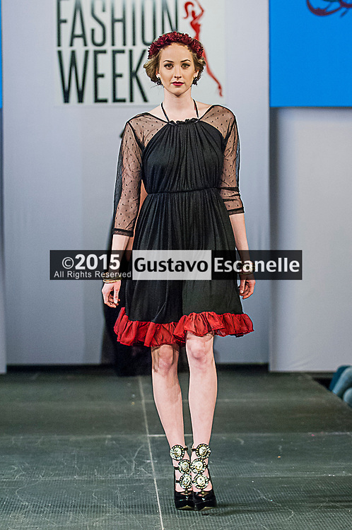 NEW ORLEANS FASHION WEEK 2015: Designer Dominique Ansari showcasing her design at the New Orleans Fashion Week at the New Orleans Board of Trade on Thursday March 26th, 2015. ©2015, Gustavo Escanelle, All Rights Reserved. ©2015, MOI MAGAZINE, All Rights Reserved.