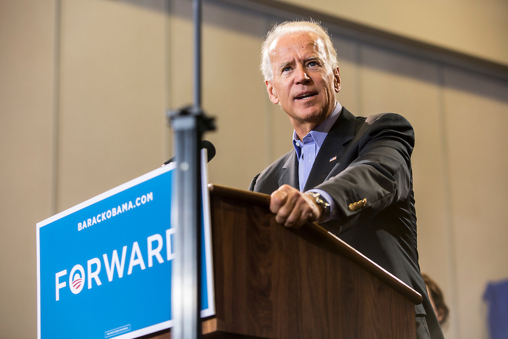 Vice President Joe Biden speaks at a campaign rally while on a two-day swing through Iowa on Tuesday, September 18, 2012 in Ottumwa, IA.