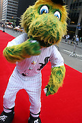 White Sox mascot South Paw at the Major League Baseball All-Stars and 49 Hall of Famers ride up Sixth Avenue in All Star-Game Red Carpet Parade Presented by Chevy on July 15, 2008