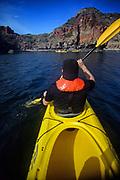 Kayaking in Sea of Cortez, Baja California
