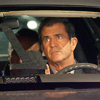 "(11/07/08-Boston,MA) Mel Gibson films a scene from the upcoming movie ""Edge Of Darkness""  in front of the So End landmark, the Cathedral of the Holy Cross. photo by Mark Garfinkel"
