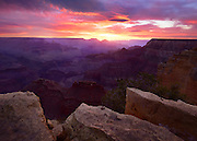 Sunrise from Powell Point on the South Rim of Grand Canyon National Park.