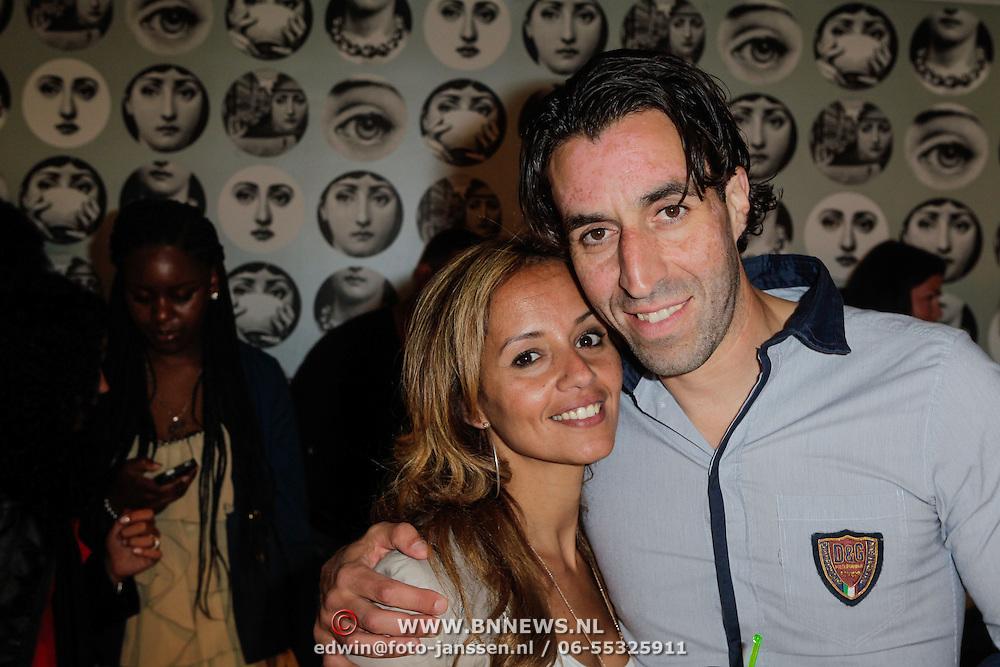 NLD/Amsterdam/20120601 - Opening webshop Sael Shop, Khalid Sinouh en partner Leyla