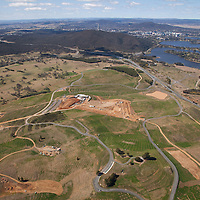 Aerial photo, National Aboretum Visitors Centre construction