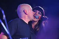 Joel Krauss performs with his daughter Alexis Krauss at the Stone Pony in Asbury Park. / Photo by Russ DeSantis Photography and Video, LLC