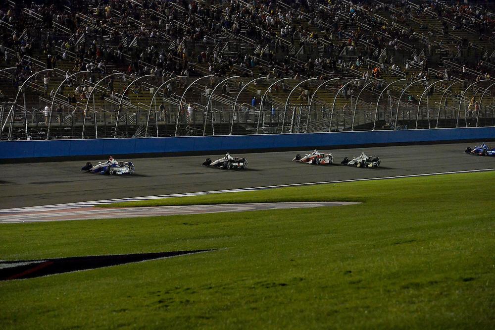 Helio Castroneves, Will Power, Juan Pablo Montoya, Auto Club Speedway, Fontana, CA USA 8/30/2014