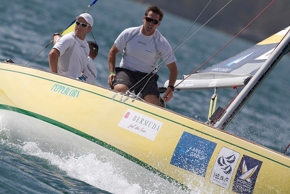 Jesper Radich (L) during qualifying session 2 of the Argo Group Gold Cup 2010. Hamilton, Bermuda. 6 October 2010. Photo: Subzero Images/WMRT