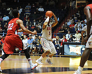 "Ole Miss' Dundrecous Nelson (5) vs. Louisiana-Lafayette at C.M. ""Tad"" Smith Coliseum in Oxford, Miss. on Wednesday, December 14, 2011. (AP Photo/Oxford Eagle, Bruce Newman)"