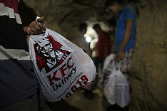 MAY 15 2013 Gaza - KFC Delivered through Smuggling Tunnel