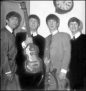 BEATLES September 1963 George Harrison, Paul McCartney, John Lennon and Ringo Starr at Royal Albert Hall in London for the BBC Pop Proms
