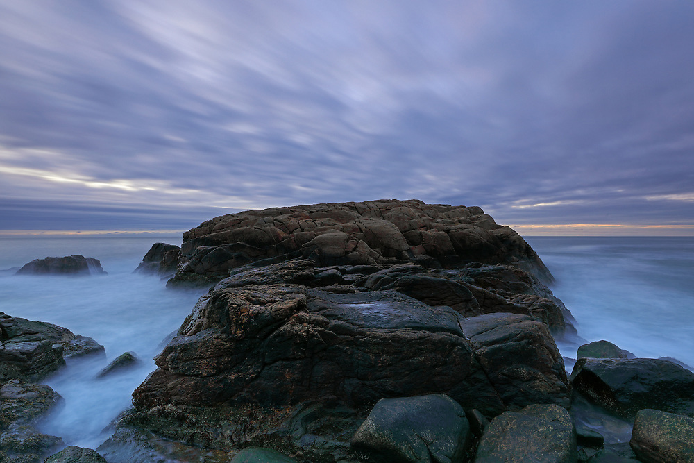Rhode Island sunrise photography images are available for image licensing and as museum quality photography prints, canvas prints, acrylic prints, wood prints or metal prints. Wall art prints may be framed and matted to the individual liking and room decor needs:<br /> <br /> http://juergen-roth.pixels.com/featured/hazard-rock-juergen-roth.html<br /> <br /> Beautiful coastal Rhode Island seascape sunrise photograph showing the unique seacoast at Hazard Rock in Narragansett. Rhode Island is a heaven for macro, seascape, and landscape photography that makes for great wall art. Especially sunrise, sunset and the light of the golden hours paint the sky in beautiful colors and bring out the beauty of the Ocean State.<br /> <br /> Good light and happy photo making! <br /> <br /> My best, <br /> <br /> Juergen <br /> Image Licensing: http://www.RothGalleries.com <br /> Fine Art Prints: http://fineartamerica.com/profiles/juergen-roth.html <br /> Photo Blog: http://whereintheworldisjuergen.blogspot.com <br /> Twitter: https://twitter.com/naturefineart <br /> Facebook: https://www.facebook.com/naturefineart <br /> Instagram: https://www.instagram.com/rothgalleries