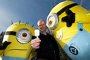 Phil Webster MD of Icefresh Foods Ltd in Holt with the newly launched Minion Ice Cream Lollies which will be sold at Asda and Morrisons.<br /> <br /> Picture: MARK BULLIMORE