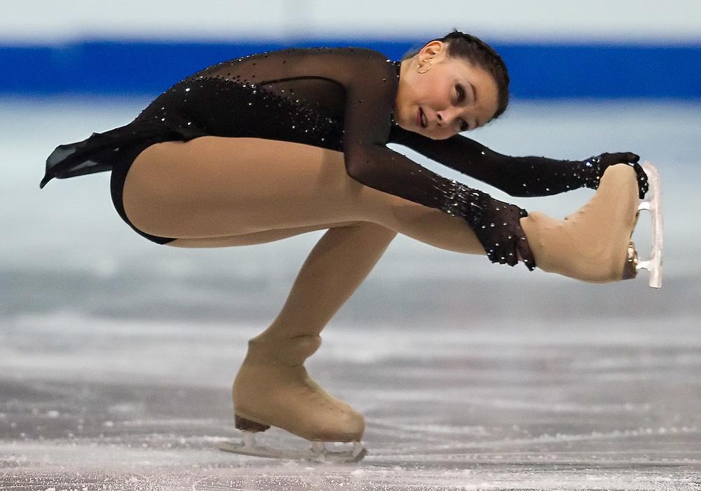 GJR334 -20111028- Mississauga, Ontario,Canada-  Elizaveta Tuktamisheva of Russia skates her short program at Skate Canada International, October 28, 2011.<br /> AFP PHOTO/Geoff Robins