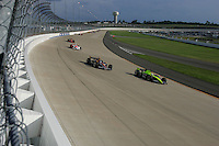Vitor Meira and Buddy Rice at the Nashville Superspeedway, Firestone Indy 200, July 16, 2005