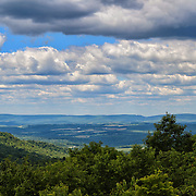 &quot;Scenic Laurel Highlands&quot;<br /> <br /> More beauty of the scenic Laurel Highlands of PA.! Gorgeous vistas from atop a mountain looking out into layers of puffy clouds, down into the valley below, and across to other mountains. Beautiful shadows and light dance across the landscape from the clouds and sunlight above!!<br /> <br /> Laurel Highlands Area of Pennsylvania by Rachel Cohen