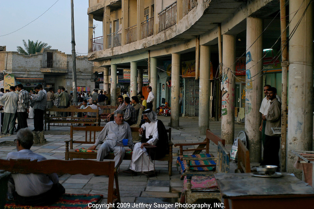 Evening in Nasiriya, Iraq.