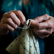 55+ Cordova Bay Womens making dresses out of Pillow cases
