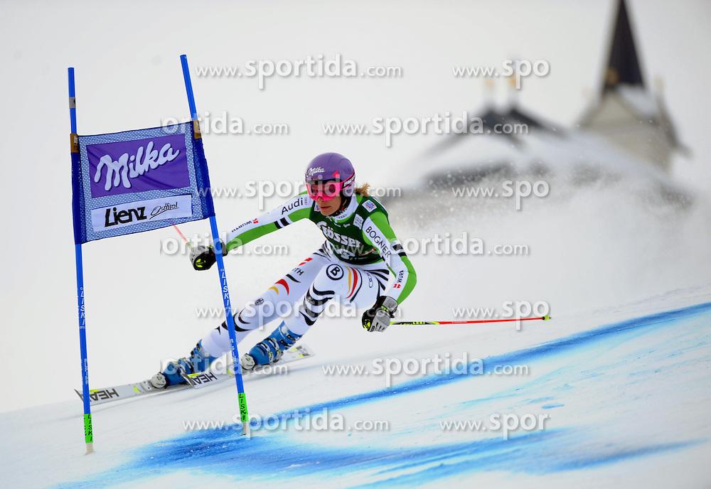 28.12.2013, Hochstein, Lienz, AUT, FIS Weltcup Ski Alpin, Lienz, Riesentorlauf, Damen, 1. Durchgang, im Bild Maria Höfl-Riesch (GER) // Maria Höfl-Riesch (GER) during the 1st run of ladies giant slalom Lienz FIS Ski Alpine World Cup at Hochstein in Lienz, Austria on 2013/12/28. EXPA Pictures © 2013, PhotoCredit: EXPA/ Erich Spiess