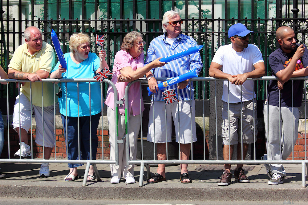 Torch relay at Fulham Broadway, London SW6