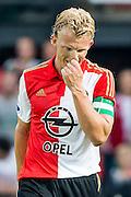ROTTERDAM - Feyenoord - Southampton FC , Voetbal , Voorbereiding , Oefenwedstrijd , Seizoen 2015/2016 , Stadion de Kuip , 23-07-2015 , Speler van Feyenoord Dirk Kuyt baalt