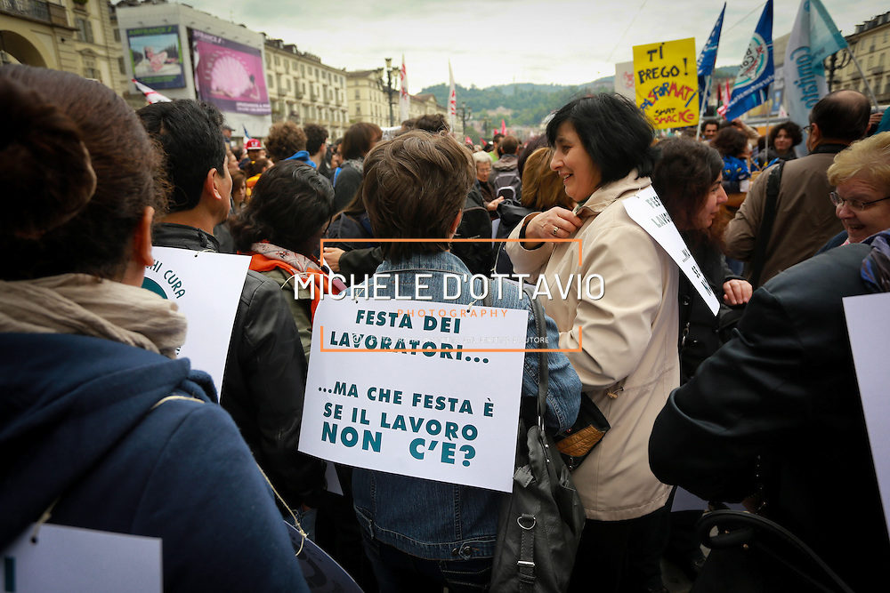 Corteo del primo maggio a Torino