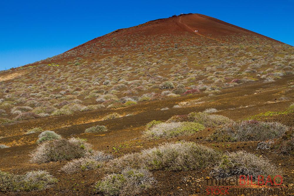 Monta&ntilde;a Bermeja (Reddish mountain). La Graciosa island. Chinijo Archipelago.<br /> Lanzarote, Canary Islands, Atlantic Ocean, Spain.