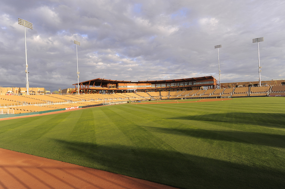 GLENDALE, AZ - MARCH 09:  Sunrise at The Ballpark at Camelback Ranch in Glendale, Arizona on March 9, 2009. (Photo by Ron Vesely)