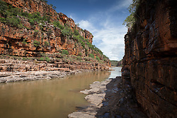Dramatic cliffs line the Sale River in Doubtful Bay on the Kimberley coast.
