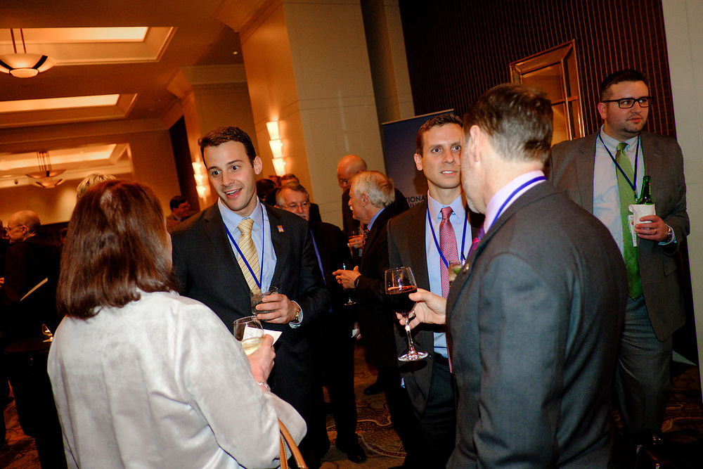 Attendees mingle during the cocktail hour at the 2017 National Review Ideas Summit at the Mandarin Oriental Hotel in Washington, D.C. on May 16, 2017.