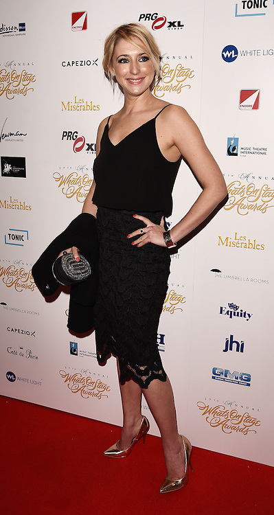The 17th Annual What's On Stage Awards held at The Prince Of Wales Theatre, London on Sunday 19 February 2017