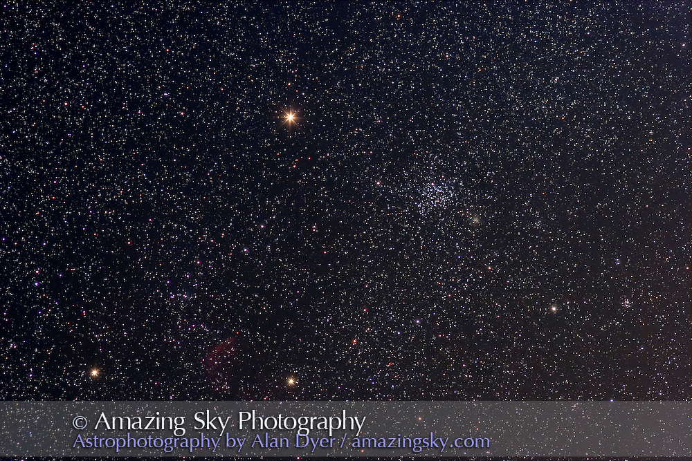 Stack of two 4-minute exposures with Canon 20Da at ISO400 and with 200mm lens at f/4. Taken April 19.