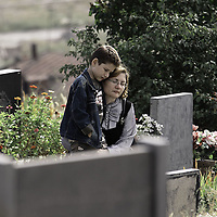 """Painful grieving over death of one of the """"heroes"""" of the Nagorno-Karabagh war - Yerablur military cemetery Yerevan, Armenia 21/9/09"""