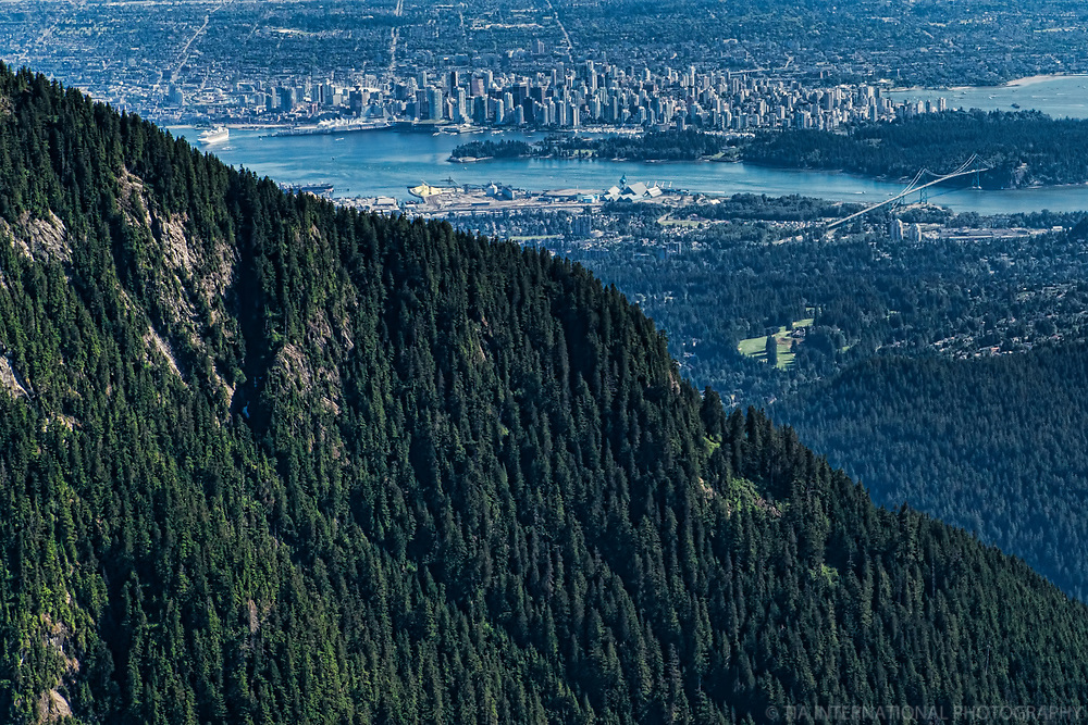 View of Vancouver from Coast Mountains