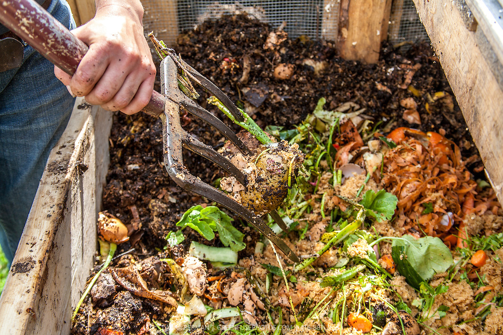 Turning Compost GreenFuse Photos Garden farm food photography